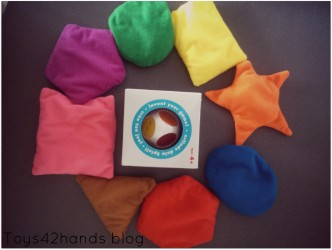 kleurendobbelsteen vormenzakjes