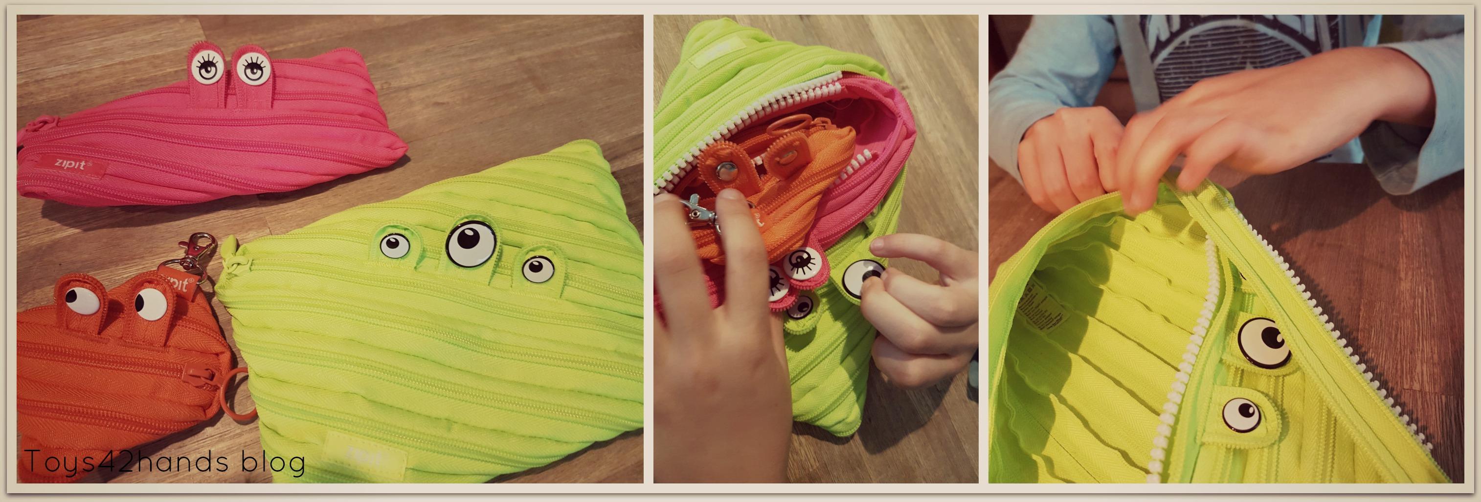 Tweehandig Rits Open Zipit Monster Toys42hands