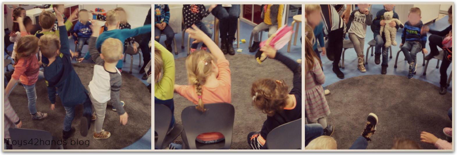 kinder spelen de beweegspellen top tot teen en het rugspel