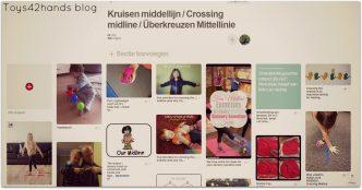 Pinterest board van Toys42hands met speelsuggesties over het kruisen van de denkbeeldige lichaams middellijn