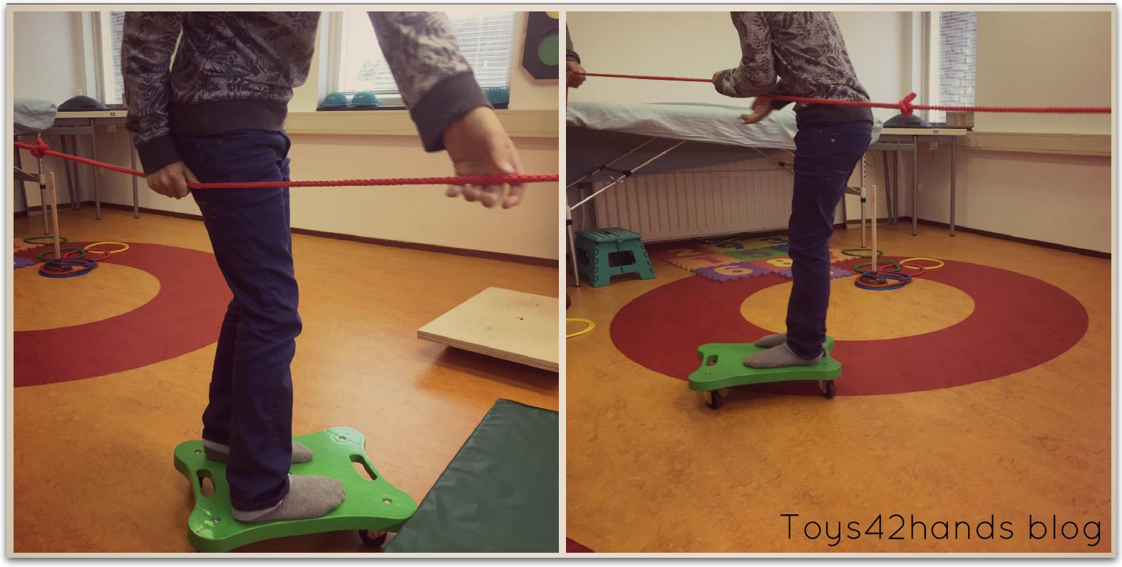 rolplank om evenwicht en coordinatie te oefenen